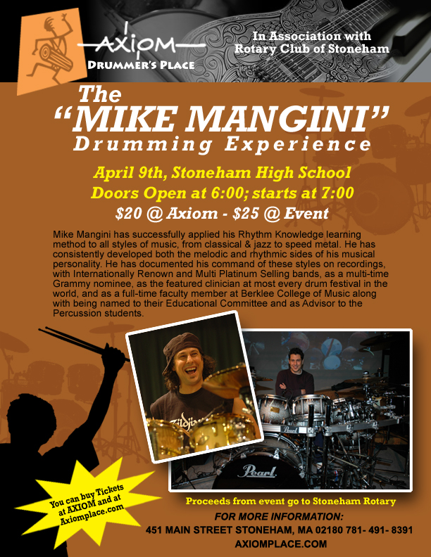 Axiom Mangini flyer